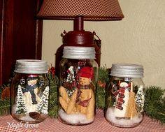 Maple Grove: ❇ Snowmen in a Jar ❆