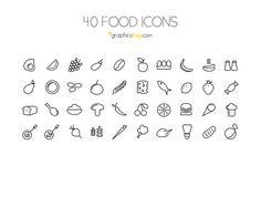 40 Food Icons
