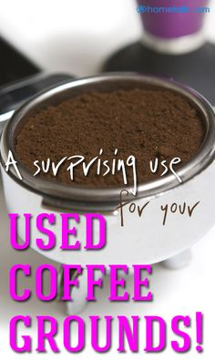 A surprising use for your leftover coffee grounds!