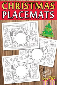 Printable Christmas Placemats for Coloring