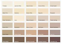 cream colour chart - Google Search