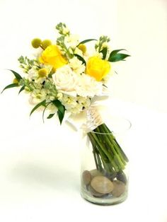 Yellow and white mix, designed by me at Hilltop Florist :)