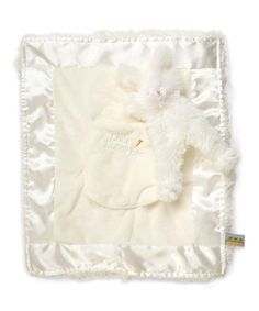 Bunnies by the Bay White Lulla Bye Bunny Blanket | zulily