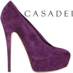 """Casadei """"Pin-Up"""" Purple Platform Pump #casadei"""