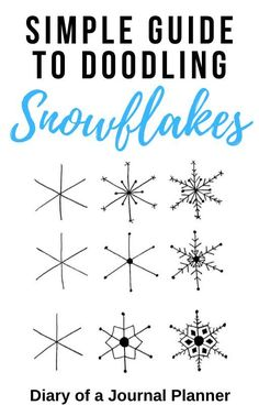 Snowflakes are the best doodle to include in winter bullet journals! Read here for simple and easy step by step guides to drawing your own snowflakes. Easy Doodles Drawings, Easy Doodle Art, Cool Doodles, Simple Doodles, Small Drawings, Doodle Ideas, Bullet Journal Themes, Bullet Journal Art, Bullet Journal Inspiration