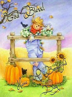 Autumn Painting, Autumn Art, Tole Painting, Fall Paintings, Casa Halloween, Holidays Halloween, Happy Halloween, Decoupage, Fall Scarecrows