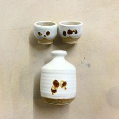 Sake set. Ned Renfield, 2017 #handmade #ceramics #pottery