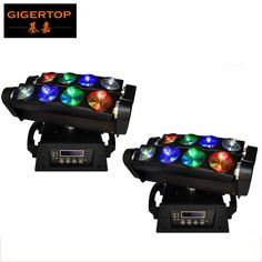 658.00$  Buy now - http://alicg7.worldwells.pw/go.php?t=32268067122 - High Quality 2Pcs/Lot 8*10W USA CREE Led Spider Moving Head Light DMX512 Led Spider Moving Head Beam 13/46Channels Free Shipping