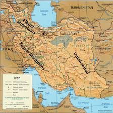 Physical Map Of West Asia