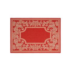 Safavieh Courtyard Rooster Indoor Outdoor Rug, Red