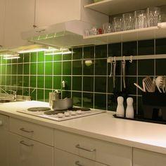 Buteljgrönt kök