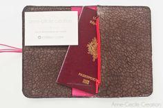 portefeuille cuir femme porte monnaie pieces par AnneCecileCreation