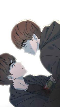 Bts Theory, I Need You Love, Webtoon Comics, Bts Drawings, Save Me, Bts Bangtan Boy, Bts Wallpaper, Manhwa, Good Times
