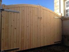 Bespoke Wooden Gates Belfast | Timber Gates Belfast | Belfast Bespoke Wooden Gates Backyard Gates, Garden Gates And Fencing, Timber Gates, Wooden Gates, Belfast, Joinery, Bespoke, Garage Doors, Shed