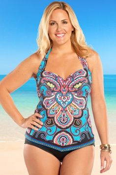 aee5b700a1 A favorite body style, great bust support, and bejeweled print will have  you swooning