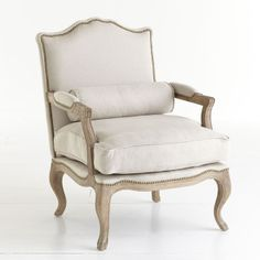 Wisteria - Furniture - Chairs -  Studded Lounge Armchair - Oatmeal - $799.00