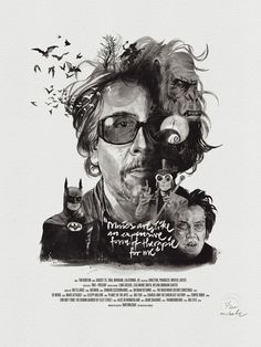 tim burton - Movie director portraits created through their movies