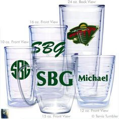 Minnesota Wild Personalized Tervis Tumblers