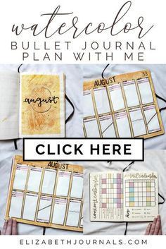 Orange Watercolor August Bullet Journal Plan-with-Me  For August, I made a lot of changes and added a lot of new spreads. You will surely love my orange watercolor August 2020 bullet journal spread.