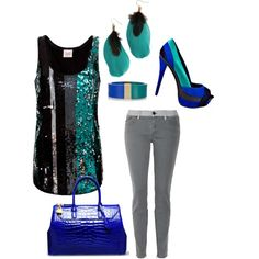 I wouldn't like the purse and heels but i would wear everything else : D