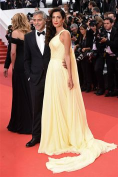 """George Clooney and Amal Clooney attend the """"Money Monster"""" premiere during the 69th Cannes Film Festival on May 12, 2016"""