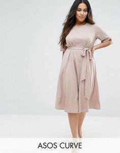 ASOS Curve | ASOS CURVE Tie Front Midi Dress