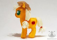 Applejack My Little Pony Petite Plush by NappinKraken on Etsy, $40.00