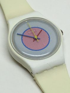Vintage Ladies Swatch Watch Raspberry LW107 1985 by ThatIsSoFunny