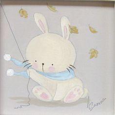 Aida Zamora - Art for kids. Custom paint. Cuadro infantil personalizado. bunny
