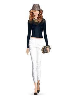 Fashion Game Fashion Games, White Jeans, Pants, Fashion Styles, Trendy Outfits, Sporty, Trouser Pants, Women's Pants, Women Pants