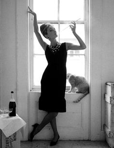 Holly Golightly and Cat ~ Breakfast at Tiffany's