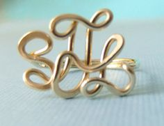 Handcrafted Monogram Ring SS by CrystalBlue07 on Etsy