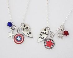 Steve Tony BFF Necklace Set Marvel Comic Inspired Jewelry | Etsy
