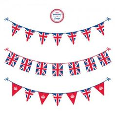 Freebie Friday: Royal Wedding Viewing Party Free Printables - The Party Teacher Royal Tea Parties, Royal Party, Union Jack Decor, Bunting Template, British Party, London Party, Queen Birthday, 30th Birthday, Union Flags