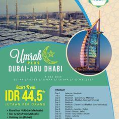 Umroh Plus DUBAI  Abu Dhabi 12 Hari (Triple) *5/ by AnnisaTravelJKT