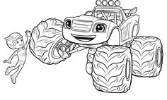 blaze and the monster machines coloring pages - Google Search