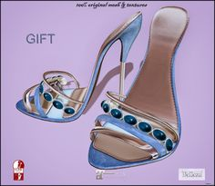 Taylor Blue Heels Gift by ChicChica