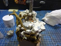 MASSIVE VOODOO: Tutorial - Bringing in details while basing with gypsum