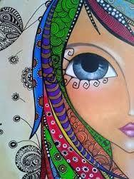 Resultado de imagen de zentangle mujer  africana