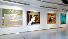 Julio Larraz, Rules of Engagement, Installation Shot 2, ContiniArtUK Gallery London