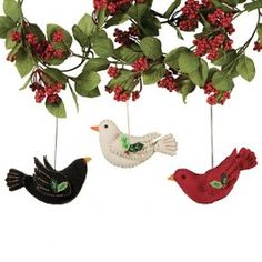 Felt Bird Ornaments | Sturbridge Yankee Workshop