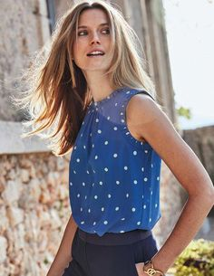 1c48af1a3fe4c Effie Silk Top #autumnfashionover40polkadots Autumn Fashion Over 40, Fall  Fashion Trends, Smart Dress