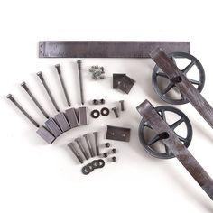 Dies ist ein schönes 5-8ft Vintage Stahl Rutschen Scheunentor Hardware-Satz. In den USA aus hochwertigem Stahl hergestellt. (Lebenslange Garantie)                                                                                                                                                     Mehr