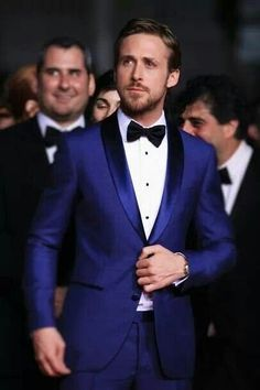 Hot in a blue tux