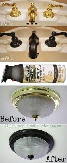 Awesome for fixtures. Would never do this with something that gets touched constantly but light looks great.