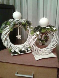 The modern wreath of eucalyptus wine Scandinavian wreath Christmas Swags, Holiday Wreaths, Simple Christmas, Holiday Crafts, Christmas Time, Christmas Ornaments, Christmas Door, Crochet Christmas, Homemade Christmas
