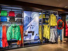 Mammut Store Design #Design, #Brandidentity, #Display, #Retaildesign #Mammut, Designed by: http://www.theoneoff.com