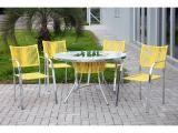 Conjunto de Mesa para Jardim/Área Externa Alumínio - com 4 Cadeiras Alegro Móveis Slim
