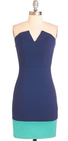 pretty strapless color block dress http://rstyle.me/n/w6narr9te