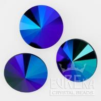 Jet Galaxy Custom Coating on Rivolis | Eureka Crystal Beads